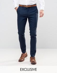 Супероблегающие строгие брюки Only & Sons - Темно-синий