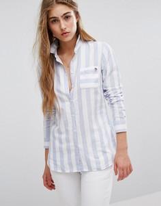 Оксфордская рубашка в широкую полоску Tommy Hilfiger - Мульти