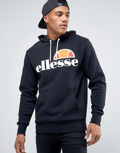 Худи с классическим логотипом Ellesse - Черный