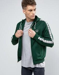 Зеленая спортивная куртка с капюшоном Fred Perry Sports Authentic - Зеленый