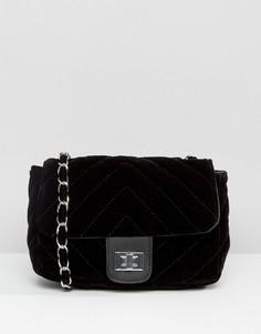 Бархатная сумка через плечо Pieces Harem - Черный