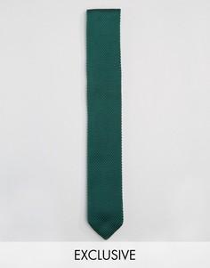 Классический трикотажный галстук Heart & Dagger - Зеленый