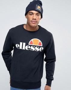 Свитшот с классическим логотипом Ellesse - Черный
