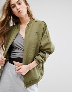 Куртка-пилот с вафельным узором adidas Originals - Зеленый