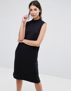 Платье с высокой горловиной Selected Lisa - Черный
