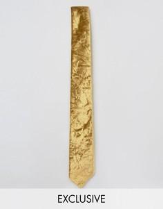 Бархатный галстук Noose & Monkey - Золотой