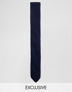 Трикотажный галстук Noose & Monkey - Темно-синий