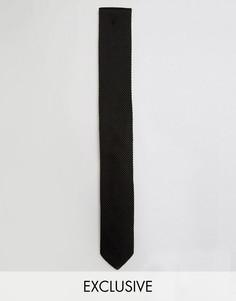 Трикотажный галстук Noose & Monkey - Черный