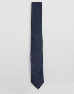 Льняной галстук Noak - Темно-синий