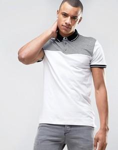 Белая футболка-поло New Look - Белый