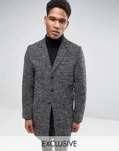 Серо-черное пальто Only & Sons - Серый