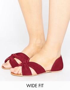 Замшевые сандалии для широкой стопы ASOS JERICO - Красный