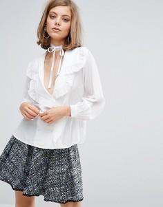 Рубашка в пижамном стиле Sister Jane - Белый