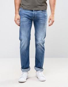 Светлые прямые джинсы Diesel Safado 859R - Синий