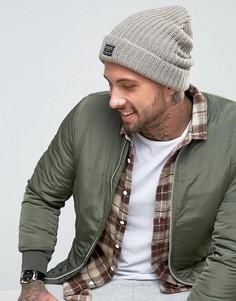 Светло-коричневая шапка-бини крупной вязки New Look - Коричневый