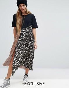 Платье-футболка миди Reclaimed Vintage - Мульти
