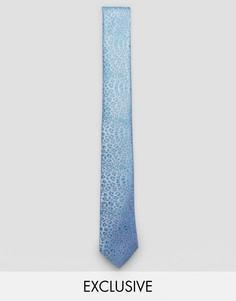 Жаккардовый галстук с леопардовым принтом Noose & Monkey - Синий