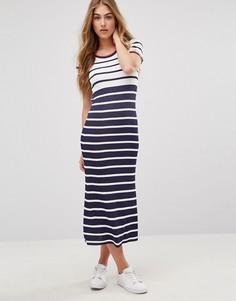 Платье-футболка миди в полоску Tommy Hilfiger - Мульти
