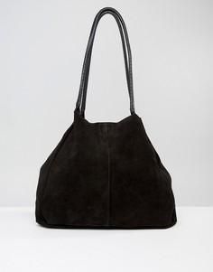 Замшевая сумка без подкладки ASOS - Черный