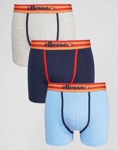 Комплект из 3 пар полосатых боксеров-брифов Ellesse - Темно-синий