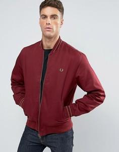 Красная куртка-пилот с кантом Fred Perry - Красный