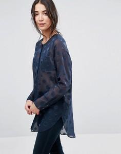 Рубашка в прозрачный горошек Selected Valera - Темно-синий
