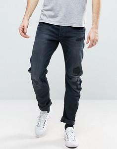 Черные выбеленные узкие джинсы с прорехами G-Star Arc 3D - Черный