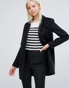 Шерстяная куртка на пуговицах Vero Moda - Черный