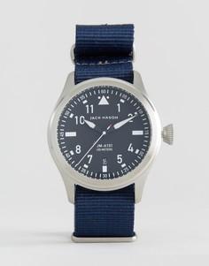 42 мм часы с темно-синим парусиновым ремешком Jack Mason Aviation - Темно-синий