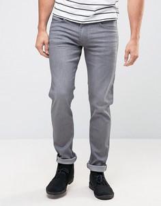 Серые выбеленные зауженные джинсы Lee Luke - Серый