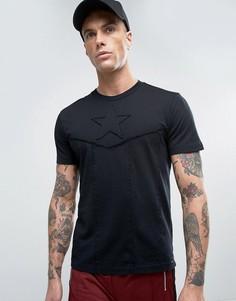 Футболка с вышивкой звезды Diesel T-CAPTAIN - Черный
