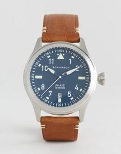 Часы с коричневым кожаным ремешком Jack Mason Aviation 42 мм - Коричневый