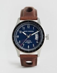 Часы 42 мм с тремя стрелками и функцией даты Jack Mason Racing - Коричневый