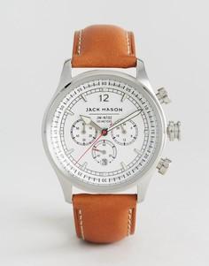 Часы с кожаным ремешком и хронографом Jack Mason Nautical 42 мм - Рыжий