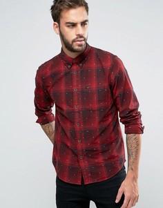 Клетчатая рубашка классического кроя на пуговицах Lee - Красный