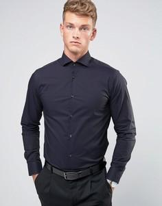 Строгая рубашка зауженного кроя с длинными рукавами Jack & Jones Premium - Темно-синий
