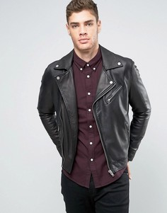 Кожаная байкерская куртка Lee Perfecto - Черный
