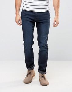 Сине-черные выбеленные джинсы слим с эффектом поношенности Lee Rider - Синий