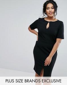 Платье-футляр с короткими рукавами Paper Dolls Plus - Черный