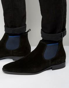 Замшевые ботинки челси Dune Martime - Черный
