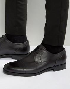 Туфли дерби с фактурной отделкой носка HUGO by Hugo Boss Tempt - Черный