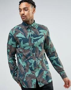 Рубашка с пальмовым принтом Diesel S-DORADO - Зеленый