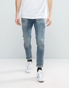 Суперузкие серые джинсы G-Star Revend - Серый