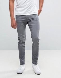 Серые супероблегающие джинсы с необработанной кромкой Lee Malone - Серый