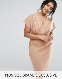 Платье-футляр с запахом Paper Dolls Plus - Бежевый