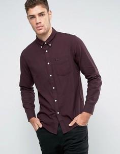 Рубашка из вафельной ткани классического кроя на пуговицах Lee - Красный
