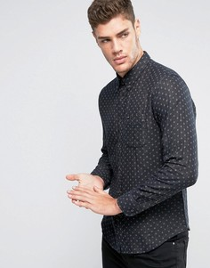 Рубашка классического кроя на пуговицах с декоративной строчкой Lee - Черный