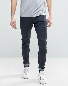 Узкие брюки с молниями на коленях и 3D эффектом G-Star 5620 - Синий