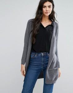Кардиган в рубчик с карманами Vero Moda - Серый