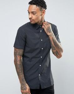 Рубашка с короткими рукавами и принтом Diesel S-DUSK - Черный